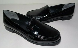 Franco Sarto Size 7.5 W Wide VALERA Black Patent Loafers New Womens Shoes - $88.11