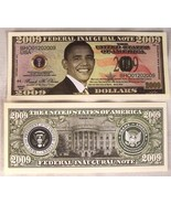 2 ea OBAMA BARACK 2009 DOLLAR BILLS  play money NEW - $1.48