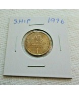 1976 1 DRACHMAI GREEK SHIP COIN!  Constantine Kanaris Greece Nickel bras... - $2.45