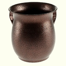 Judaica Hand Wash Cup Netilat Yadayim Natla Spotted Brown Stainless Steel