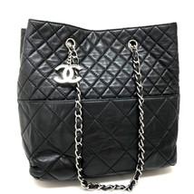 AUTHENTIC CHANEL CC Charm Matelasse Lamb Leather Tote Chain Shoulder Bag... - $1,510.00