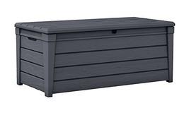 Keter Brightwood 120 Gallon Outdoor Garden Patio Storage Furniture Deck ... - $134.33