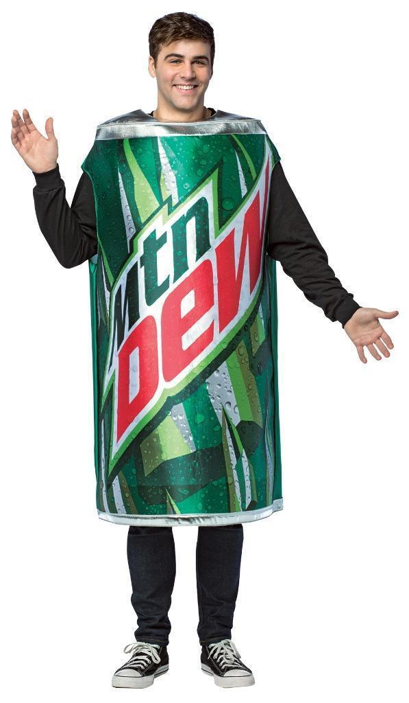 Mountain Dew Adult Costume Men Women Soda Can Drink Food Halloween Party GC4637
