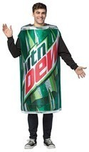 Mountain Dew Adult Costume Men Women Soda Can Drink Food Halloween Party GC4637 - $52.99