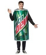 Mountain Dew Adult Costume Men Women Soda Can Drink Food Halloween Party... - $68.55 CAD