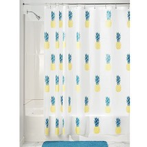 "InterDesign Pineapple PVC-Free Peva Shower Curtain, 72"" X 72"" - Yellow/Teal - $19.77"