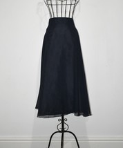 1990 Vintage Navy Blue Skirt Size UK 22 - $18.88
