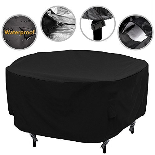 Patio Round Table Chair Set Cover Outdoor Furniture Cover Water Resistant Durabl