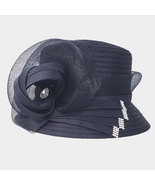 Ginga's Galleria Black Bow Accented Flower Dressy Derby Hat - $43.50