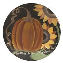Believe Pumpkin Plate - $50.04
