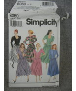 Dress with neckline Variations Button front Misses 12-16  Simplicity 8060  UC FF - $9.00