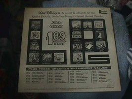 Walt Disney Presents Western Songs for Children LP Record/1963 - $18.80