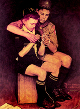 norman rockwell Art oil painting printed on canvas home decor  - $12.99