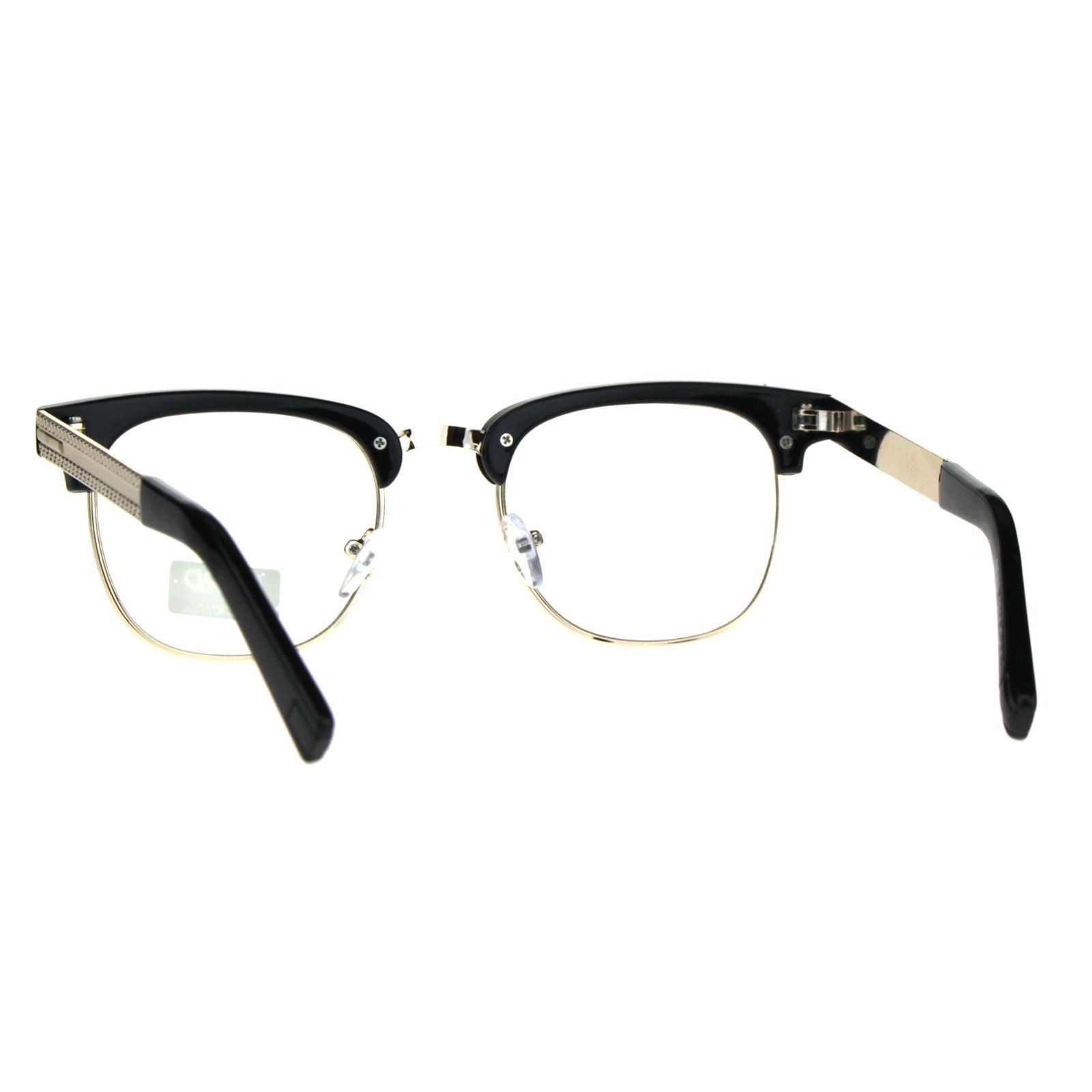 Designer Fashion Clear Lens Glasses Rhinestone Square Eyeglasses UV 400