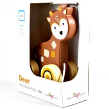 Applesauce Deer Baby Wooden Pull Toy for Toddlers Children Ages 12+ Month image 2