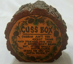 VINTAGE WOOD CUSS BOX/BANK - $18.00
