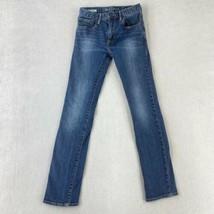 Gap Kids 1969 Skinny Denim Jeans Youth Boys 16 Regular Blue 5-Pocket Medium Wash - $14.99