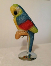 Vintage Melted Molded Pebble Plastic Macaw Parrot Portable Lamp (no sock... - $23.76