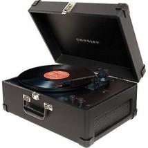 Crosley CR6249A-BK Suitcase Portable Keepsake USB Turntable Record Playe... - £102.24 GBP