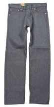LEVI'S 501 MEN'S ORIGINAL FIT STRAIGHT LEG JEANS BUTTON FLY GRAY 501 30Wx34L image 2