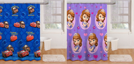 Disney Fabric Shower Curtain Sofia the First Cars New - $54.95