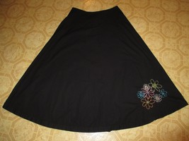St. John Bay Black Flared Skirt Lightweight - $17.99