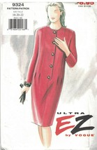 9324 Vintage Vogue Sewing Pattern Misses Loose Fitting Slightly Tapered ... - $7.91