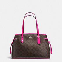 NEW COACH (F23855) PVC DRAWSTRING CARRYALL TOTE SIGNATURE BAG HANDBAG - $139.00