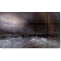 Ivan Aivazovsky Waterfront Painting Tile Murals BZ00037. Kitchen Backspl... - $150.00+