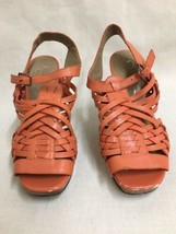 Jessica Simpson Delanco Orange/Coral Open Toe Sandal Heel Shoe Size 7B /37  - $11.87