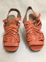 Jessica Simpson Delanco Orange/Coral Open Toe Sandal Heel Shoe Size 7B /37  - $11.87
