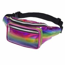 Waist Bag for Women & Men Holographic Fanny Pack Bum Bag with Adjustable... - $15.24+