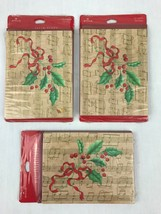 Hallmark Christmas Holiday Party Invitations 3 Pkgs 24 Total Holly Music Notes - $9.97