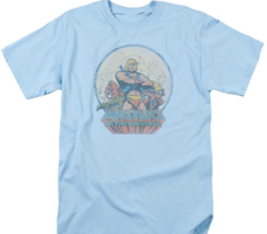 He-Man Masters of the Universe Retro 80's cartoon distressed blue t-shirt DRM267 image 2