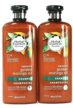 2 Bottles Herbal Essences Bio Renew 13.5 Oz Smooth Golden Moringa Oil Sh... - $25.99
