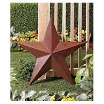 "36"" Rustic Dimensional Barn Star Outdoor Yard Art Yard Stake Hang on Fence House - $21.98"