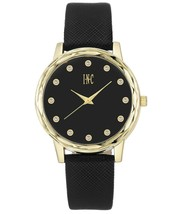 I.N.C. Women's Black Faux Leather Strap 38mm Watch with Interchangeable Bezels image 2