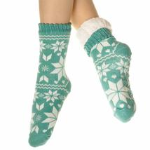 Angelina Women's 3 Pack Christmas Sherpa Lined Thermal Socks with Gift Tags image 5