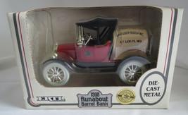MIB 1988 Ertl Die Cast 1/25 Scale 1918 Runabout Anheuser Busch Beer Barrel Bank - $9.70