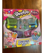 Shopkins Shopping Cart Sprint Pressman Board Game 2-4 Players - $4.99