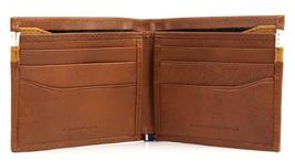 NEW TOMMY HILFIGER MEN'S LEATHER DOUBLE BILLFOLD ID WALLET HONEY TAN 31TL130014 image 6