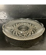 "Anchor Hocking Wexford Pattern Clear Glass 5 Part Divided Relish Tray 11"" - $10.00"