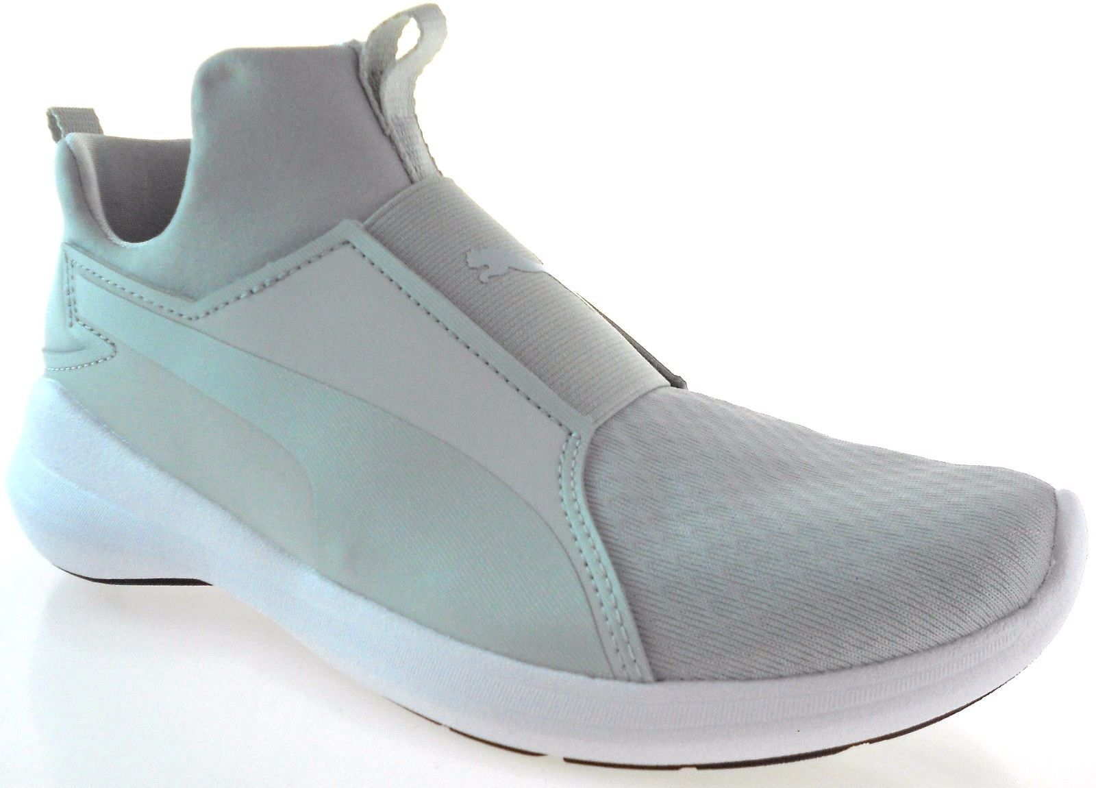 best sneakers 32a5e 4b9ad S l1600. S l1600. Previous. PUMA REBEL MID WOMEN S GRAY VIOLET WHITE SHOES