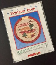 Vtg Dimensions Heirloom Hoop Merry Christmas Goose Counted Cross Stitch ... - $11.87