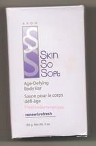 Bath Avon Skin So Soft Age-Defying Body Bar Renew and Refresh 5 oz ~Vintage NOS~ - $9.85