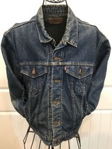 Vtg LEVIS Jacket Trucker Denim Jean Red Tab 70506-0316 sz 42 USA Made - $47.50