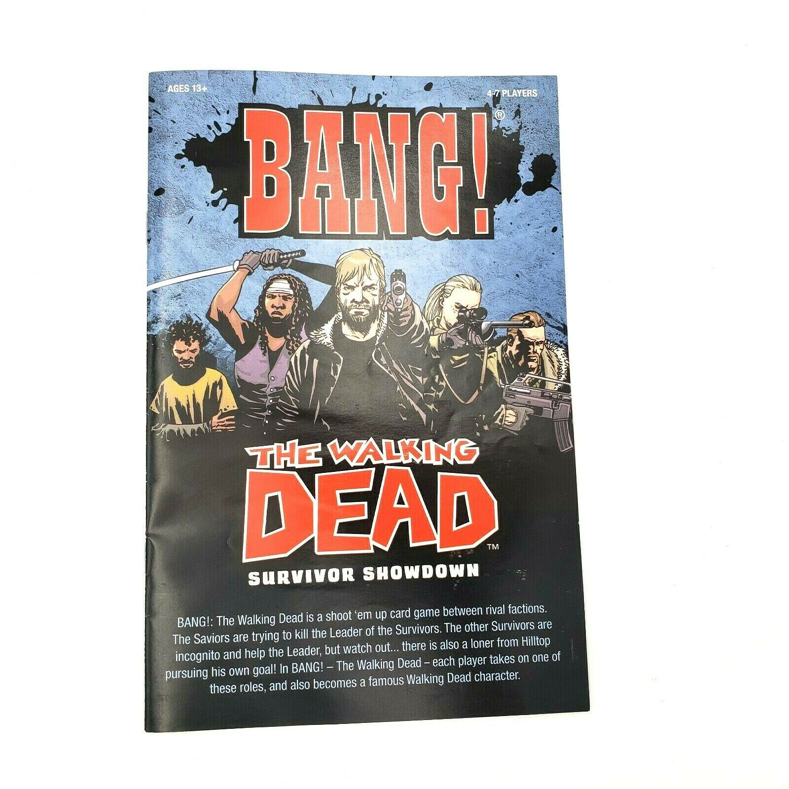 BANG! The Walking Dead Survivor Showdown Card Game (2014) 4–7 Players COMPLETE - $27.88