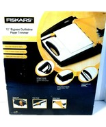 """Fiskars 12"""" Bypass Guillotine Paper Trimmer Crafting Softgrip Handle 958... - $38.68"""
