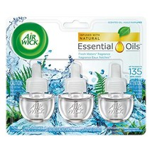Air Wick Scented Oil Air Freshener, Fresh Waters Scent, Triple Refills, ... - $15.35