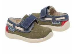Naturino Kids 7800 Boat Shoe, Kaki Old+Bleu+Rosso, Size US 5 EUR 20 - $34.64